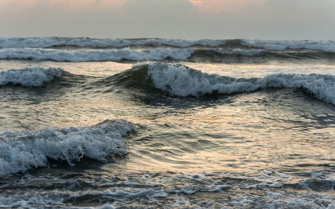 rolling waves in the sea