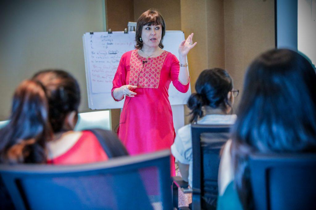 Eva Mantzourani teaching NLP