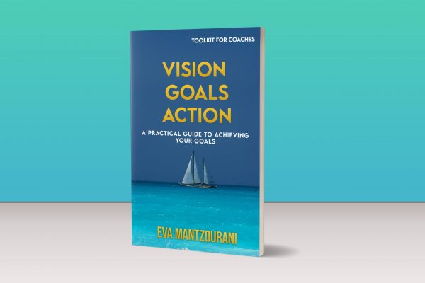 3d image of the vision goals action toolkit standing on a table