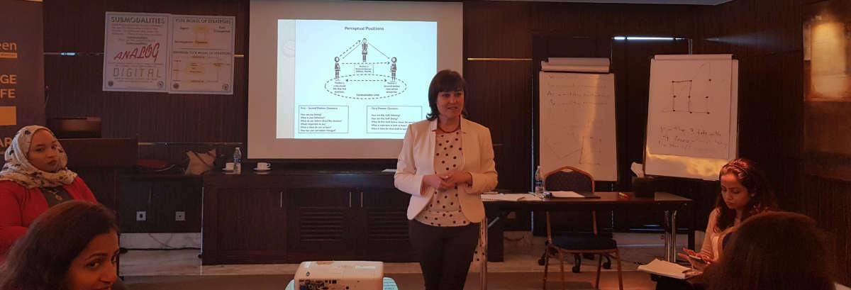 Coach and NLP trainer Dr Eva Mantzourani